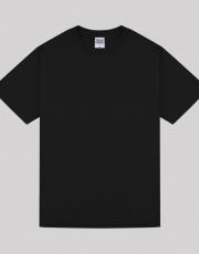 프린트스타 반팔 32수 블랙 (남녀공용)