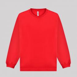 글리머 드라이 라운드 긴팔티셔츠 레드