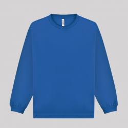 글리머 드라이 라운드 긴팔티셔츠 로얄블루