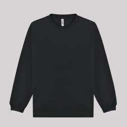 글리머 드라이 라운드 긴팔티셔츠 블랙