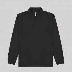 글리머 드라이 긴팔 폴로셔츠(주머니) 블랙